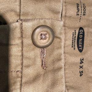 Old Navy Khaki Pant 36x34